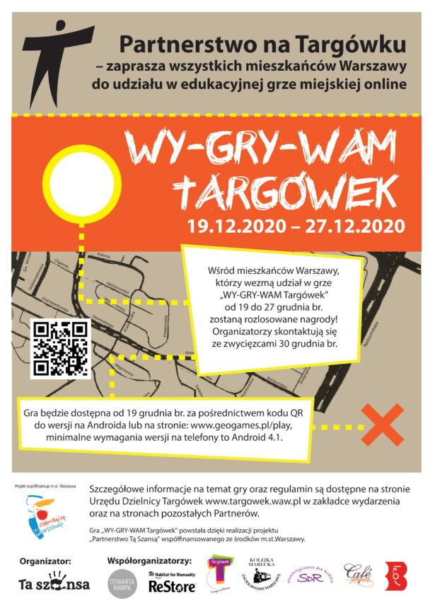 plakat - gra miejska WY-GRY-WAM Targówek