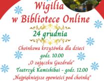 plakat - Wigilia w Bibliotece Online