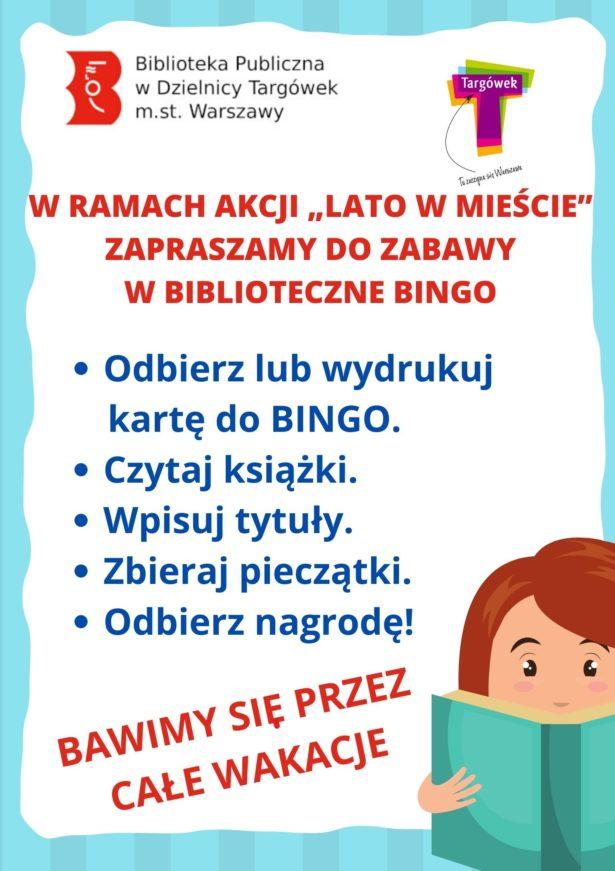 Plakat bingo biblioteczne