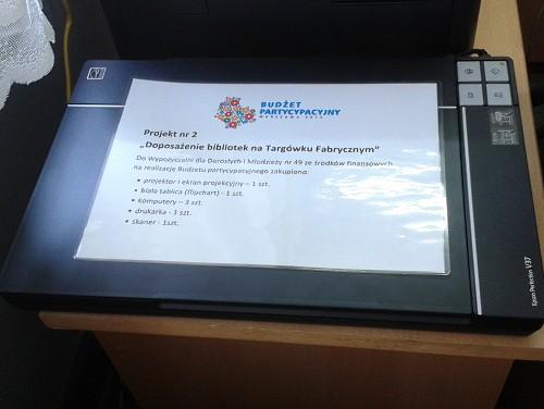 """Projekt nr 2 """"Doposażenie bibliotek na Targówku Fabrycznym"""""""