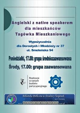 """Projekt nr 1719 """"Angielski z native speakerem dla mieszkańców Targówka Mieszkaniowego"""""""