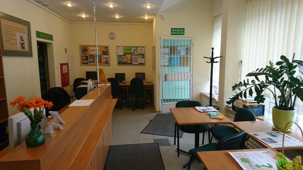 Wnętrzne Wypożyczalni nr 130 o profilu pedagogicznym