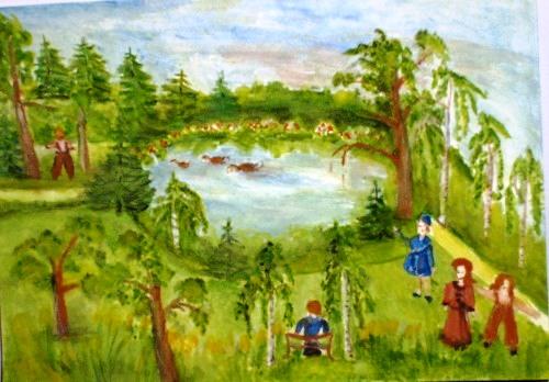 Obraz Barbara Gutowska - Park Bródnowski
