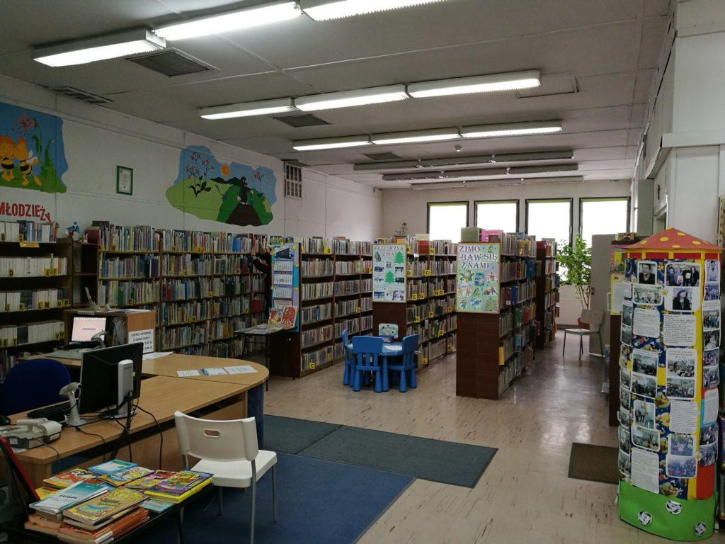 Wnętrze Biblioteki dla Dzieci i Młodzieży nr 65