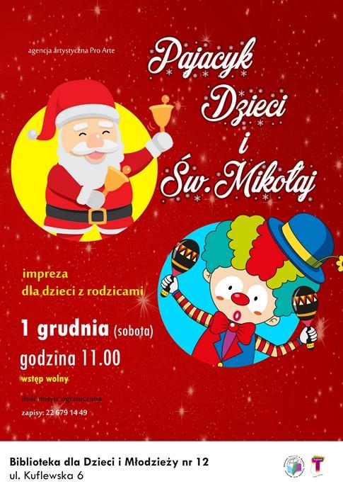 Pajacyk, dzieci i św. Mikołaj