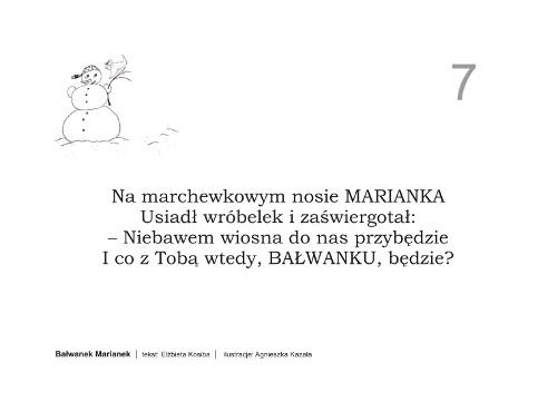 Bajka Bałwanek Marianek