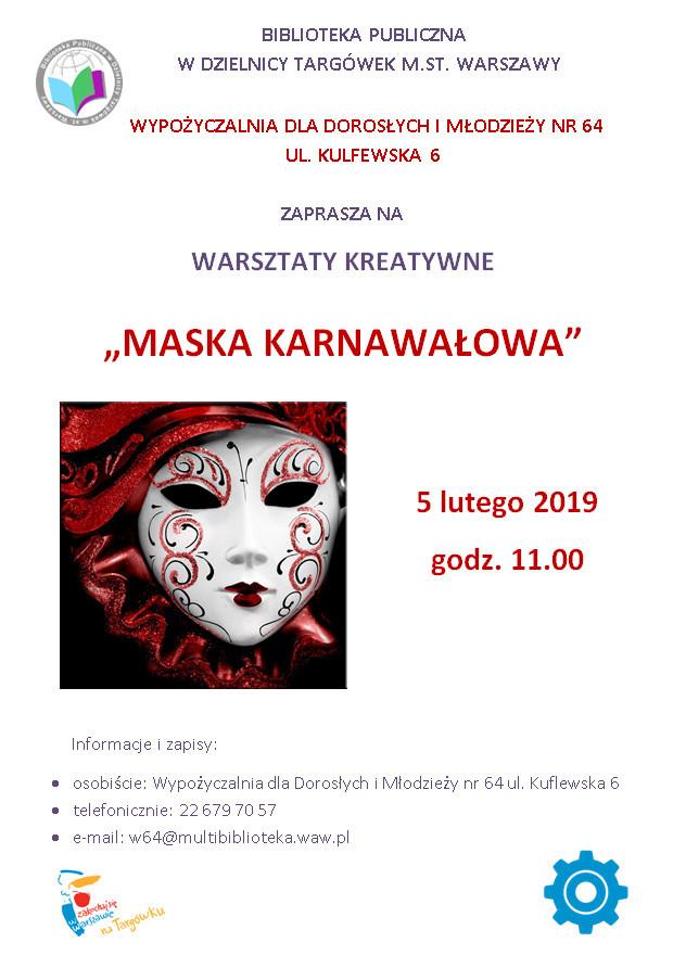 Maska karnawałowa warsztaty