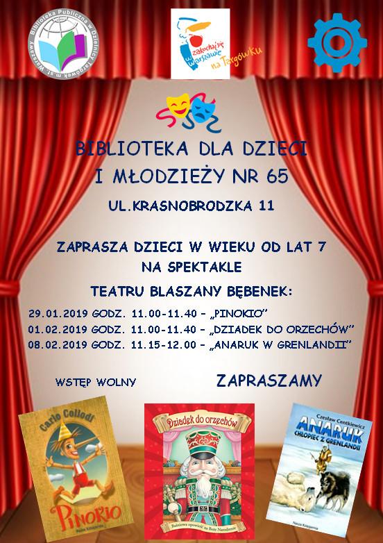Spektakle Teatru Blaszany Bębenek