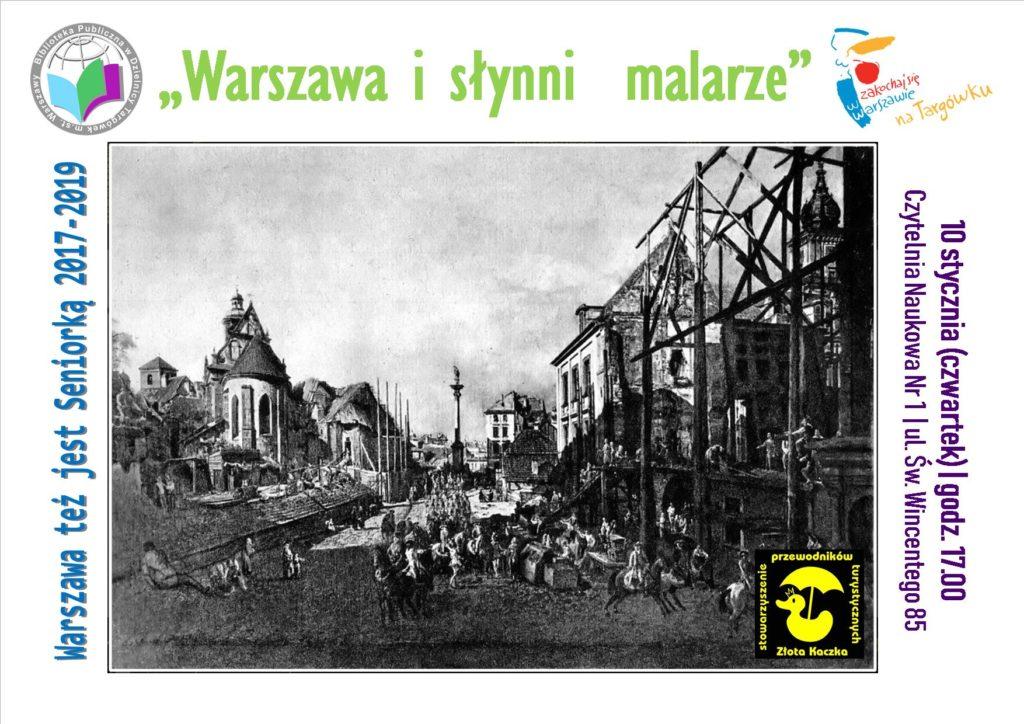 """""""Warszawa i słynni malarze"""" - prelekcja w Czytelni Naukowej"""