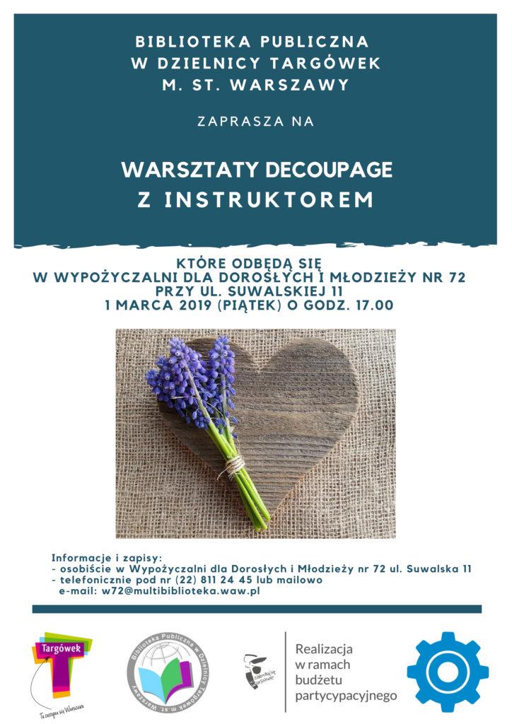 Warsztaty decoupage w W72