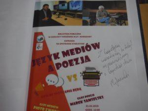 Bogactwo języka. Język mediów a poezja. Spotkanie dyskusyjne w W60