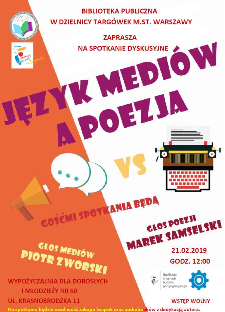 plakat język mediów a poezja