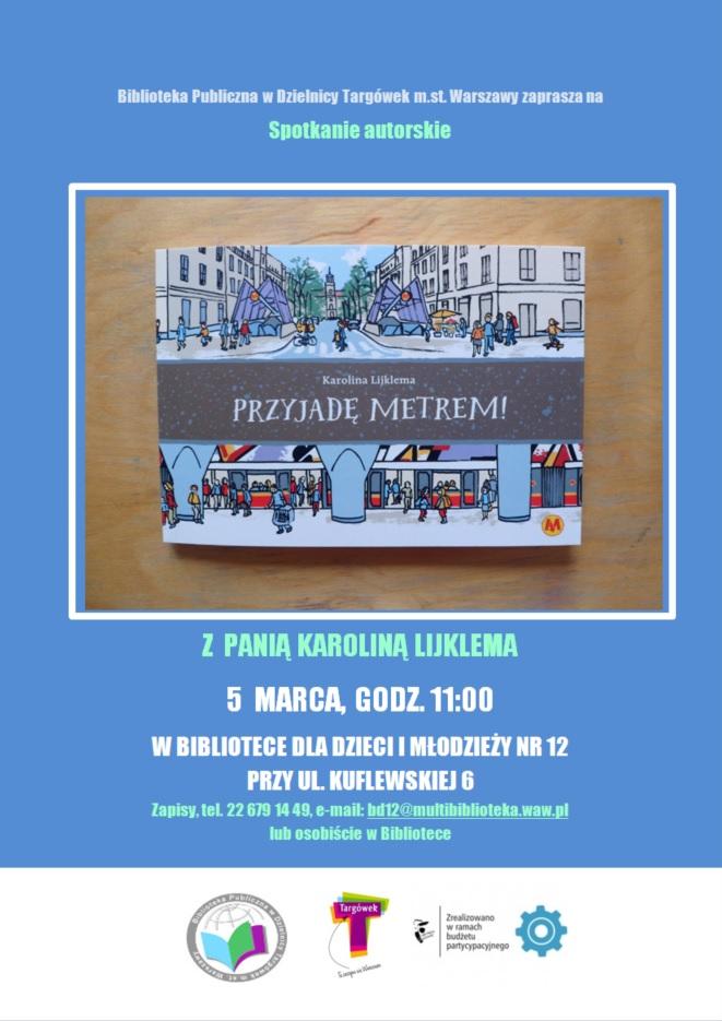 Spotkanie autorskie z Karolina Lijklema w BD12