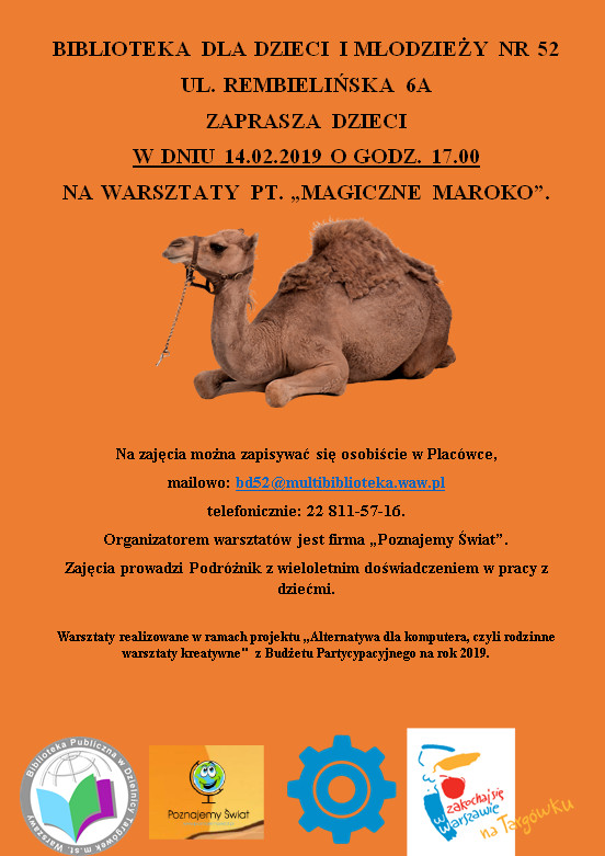 """Warsztaty pt. """"Magiczne Maroko"""""""
