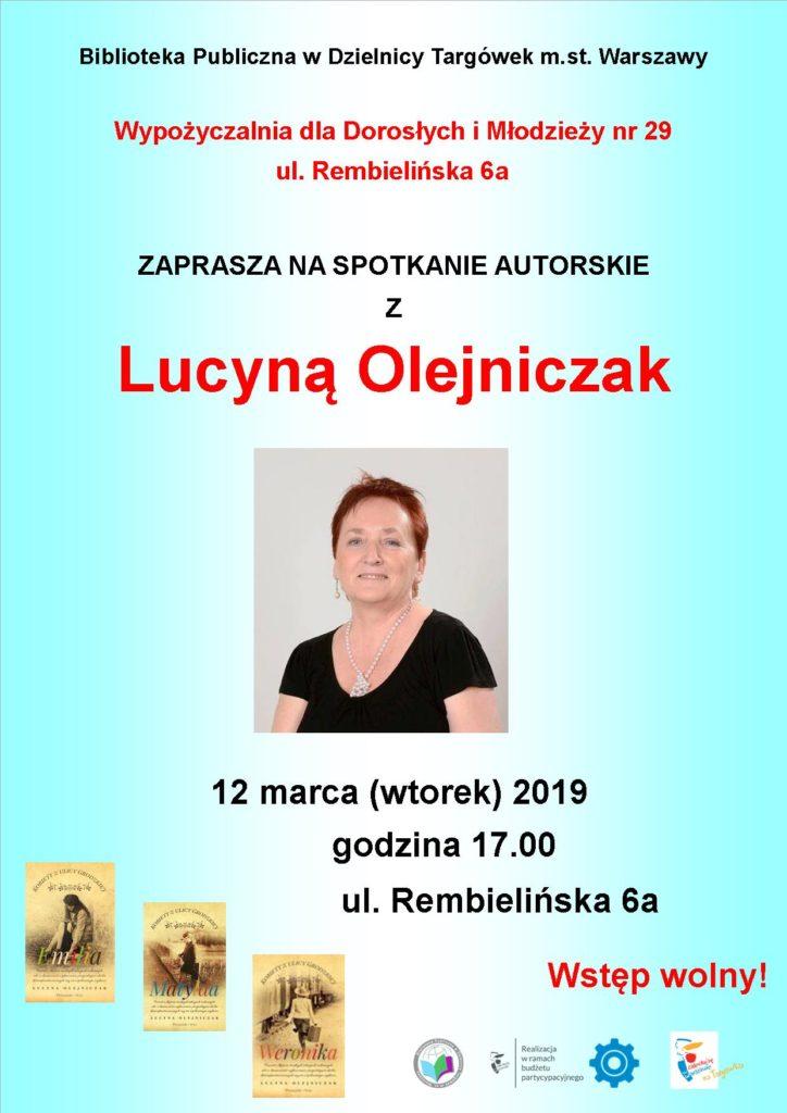 Spotkanie autorskie z Lucyna Olejniczak w W29