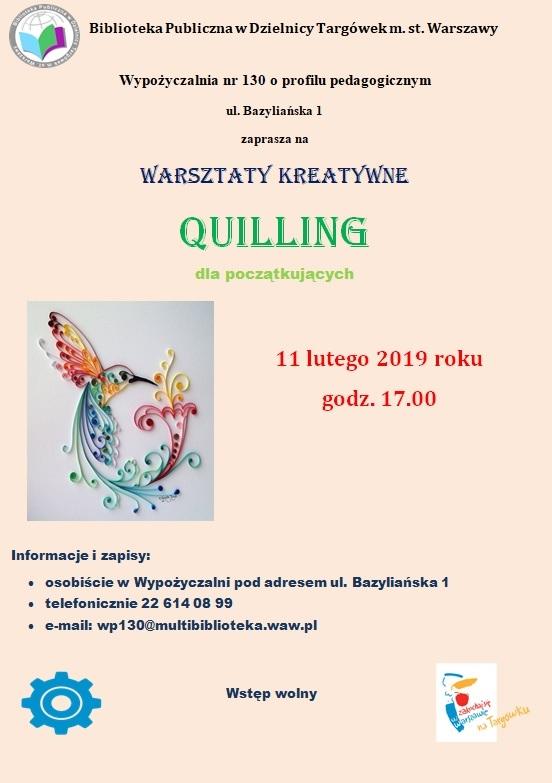 Quilling - warsztaty kreatywne w WP130