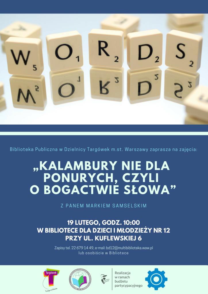 """""""Kalambury nie dla ponurych, czyli o bogactwie słowa"""" – warsztaty literackie w BD12"""