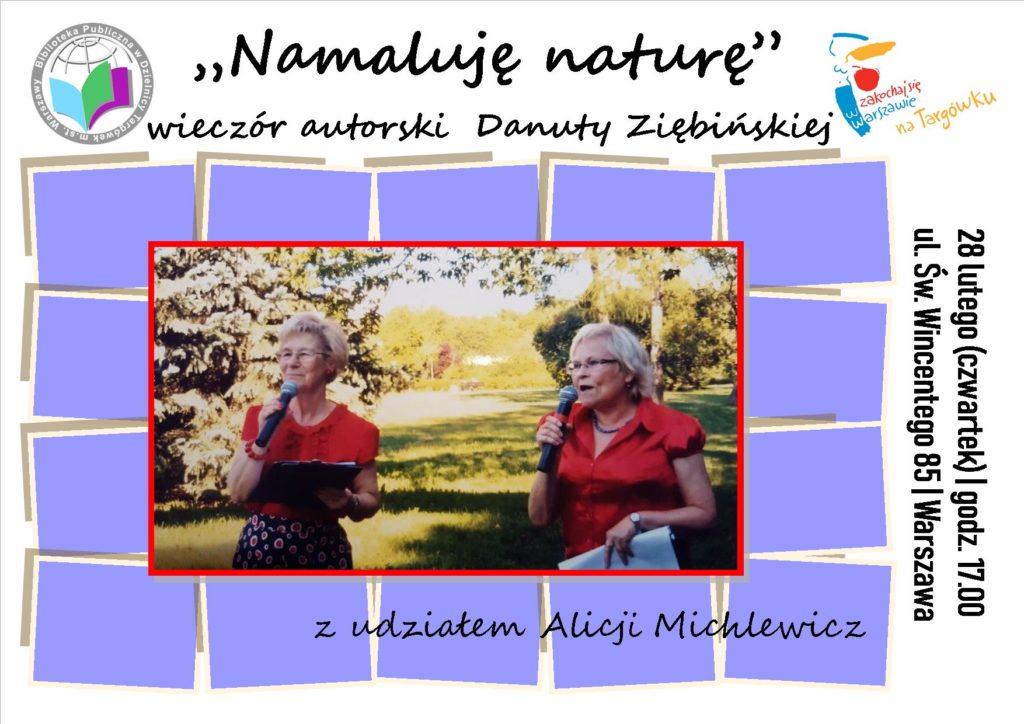 """""""Namaluję naturę"""" - wieczór autorski Danuty Ziębińskiej"""