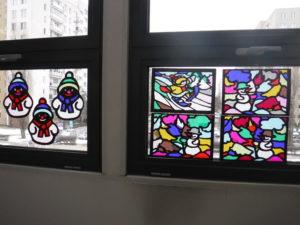 Zimowe witraże w W60