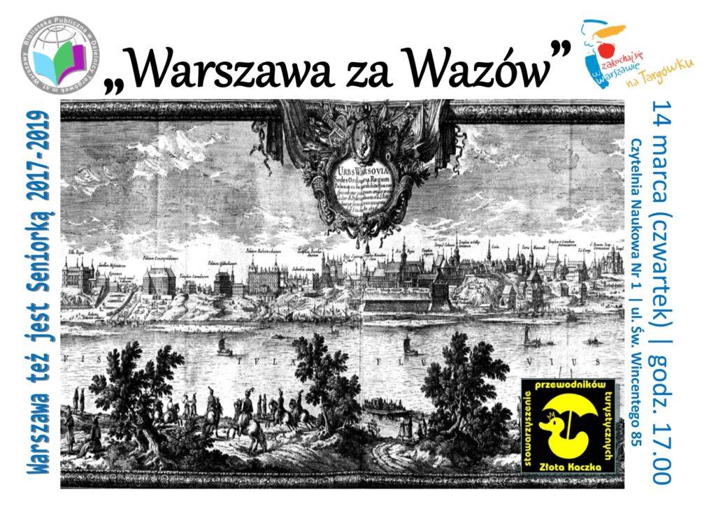 """""""Warszawa Wazów"""" - prelekcja w Czytelni"""