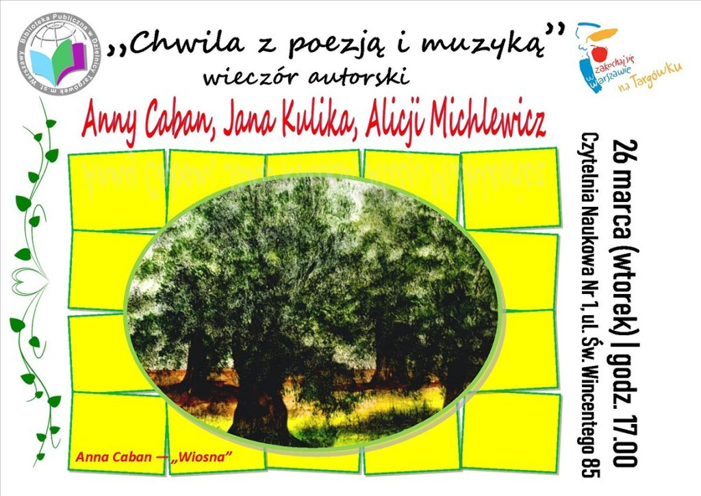 """""""Chwila z poezją i muzyką"""" - wieczór poetycki w Czytelni"""
