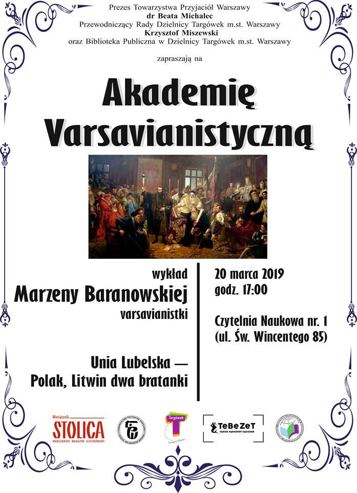 Akademia Varsavianistyczna w Czytelni Naukowe