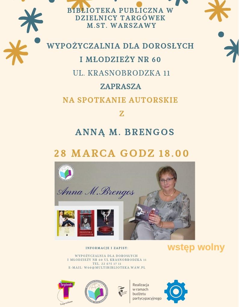 Spotkanie autorskie z Anną M. Brengos w W60