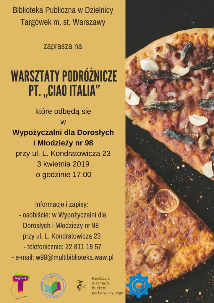 """""""Ciao Italia"""" - warsztaty podróżnicze w W98"""