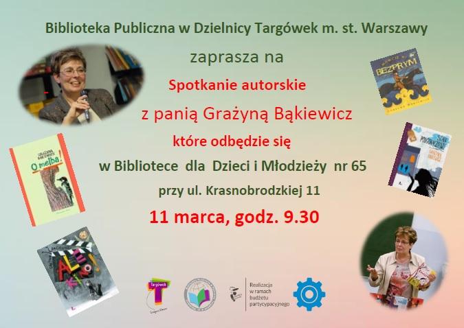 Spotkanie autorskie z Grażyną Bąkiewicz w BD65