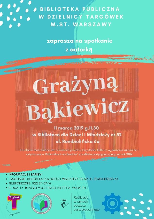 Spotkanie autorskie z Grażyną Bąkiewicz w BD52