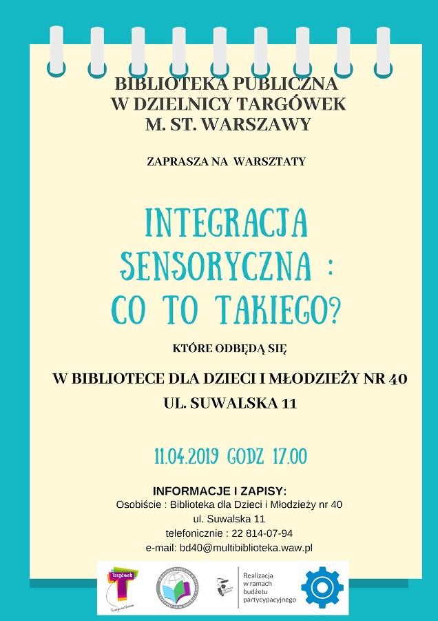 Integracja sensoryczna: Co to takiego? - warsztaty w BD40