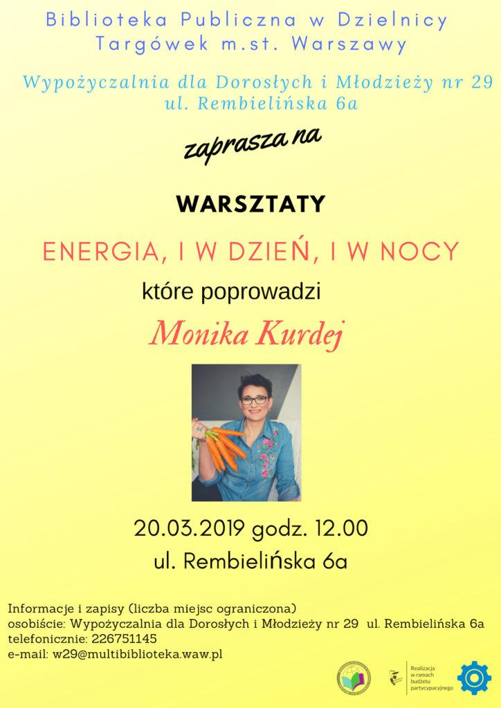 Energia, i w dzień, i w nocy - warsztaty z psychodietetykiem w W29