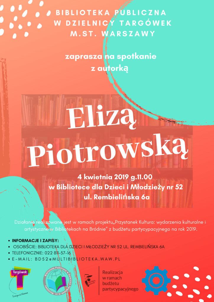 Spotkanie autorskie z Elizą Piotrowską w BD52