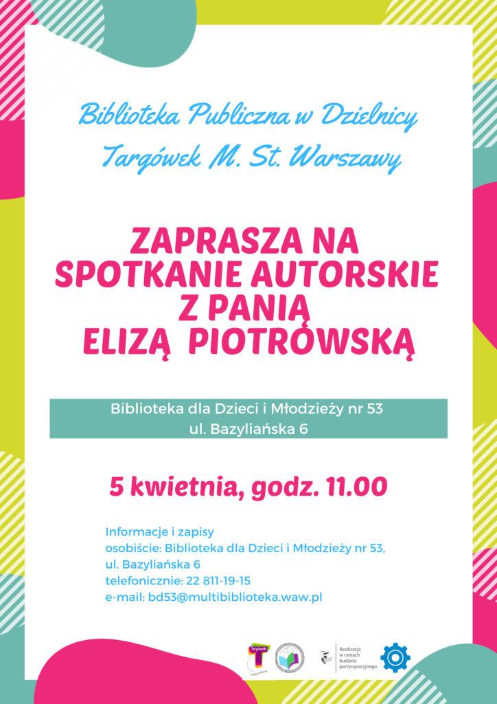 Spotkanie autorskie z Elizą Piotrowską w BD53