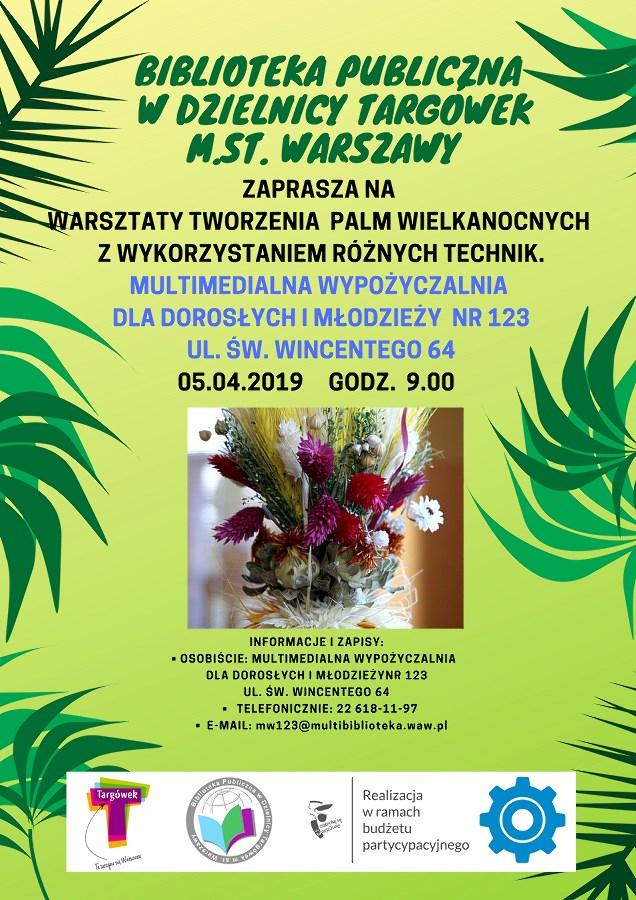 Warsztaty tworzenie palm wielkanocnych w MW123