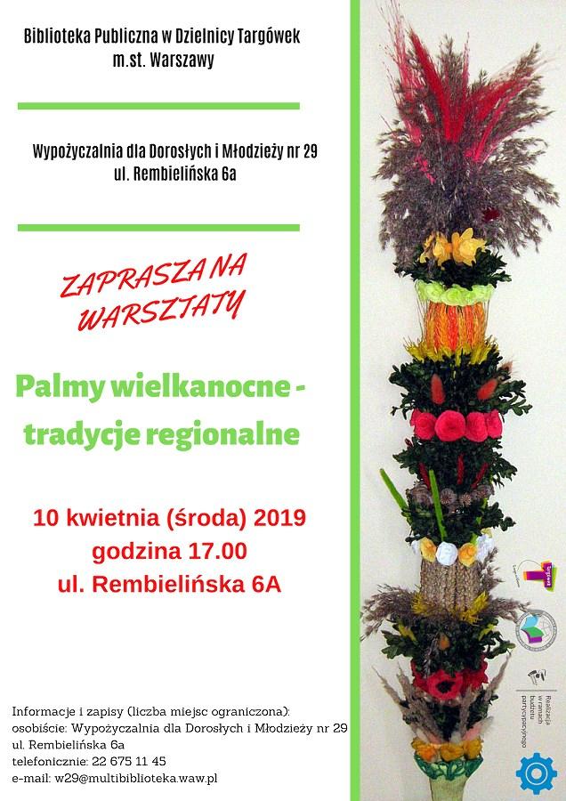 """""""Palmy wielkanocne - tradycje regionalne"""" - warsztaty w W29"""