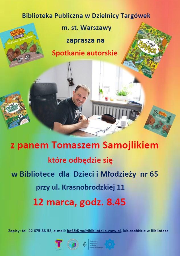 Spotkanie autorskie z Tomaszem Samojlikiem w BD65
