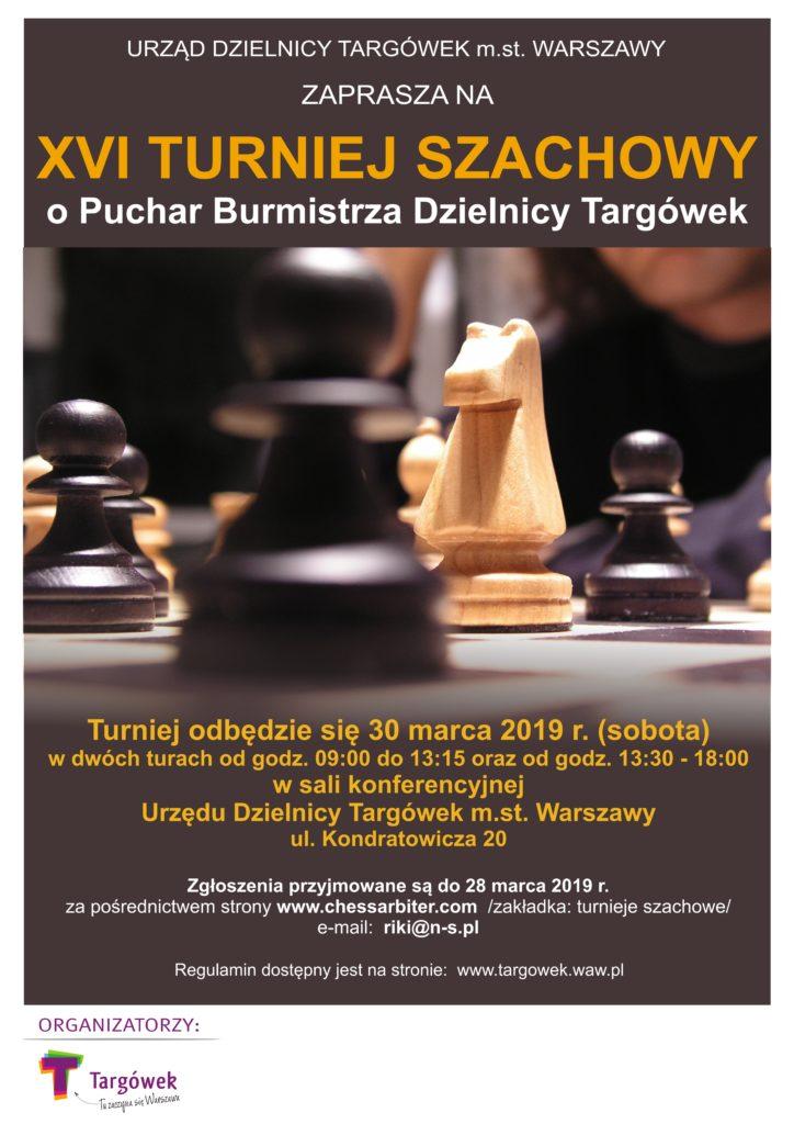 XVI Turniej Szachowy o Puchar Burmistrza Dzielnicy Targówek