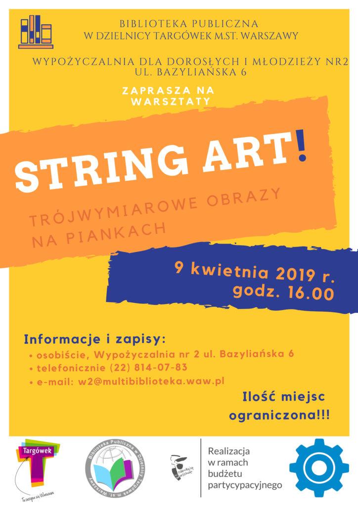 String Art - warsztaty kreatywne w W2