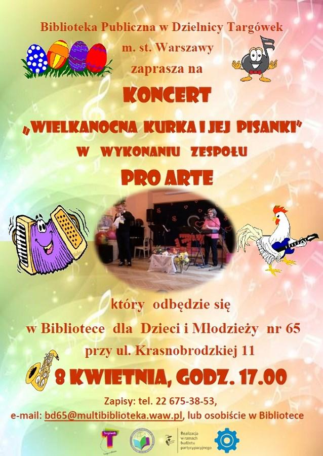 """Wielkanocna  kurka  i  jej  pisanki""- koncert w BD65"
