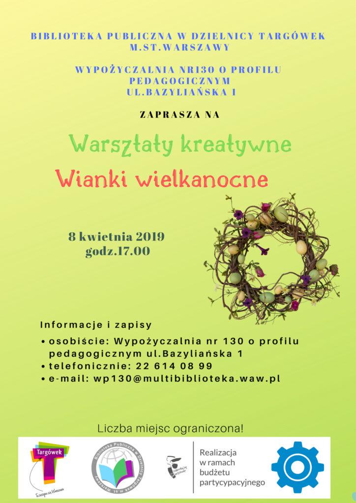 Wianki wielkanocne - warsztaty kreatywne w WP130