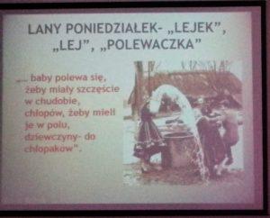 Zdjęcie z prelekcji Wielkanoc w Polsce