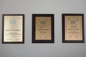 Certyfikaty - Miejsce Przyjazne Seniorom