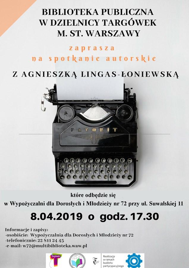 Spotkanie autorskie z Agnieszką Lingas - Łoniewską w W72