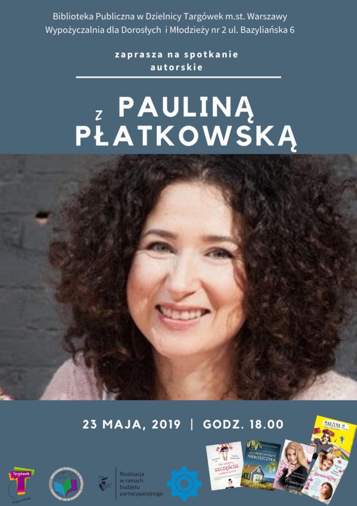 Spotkanie autorskie z Pauliną Płatkowską