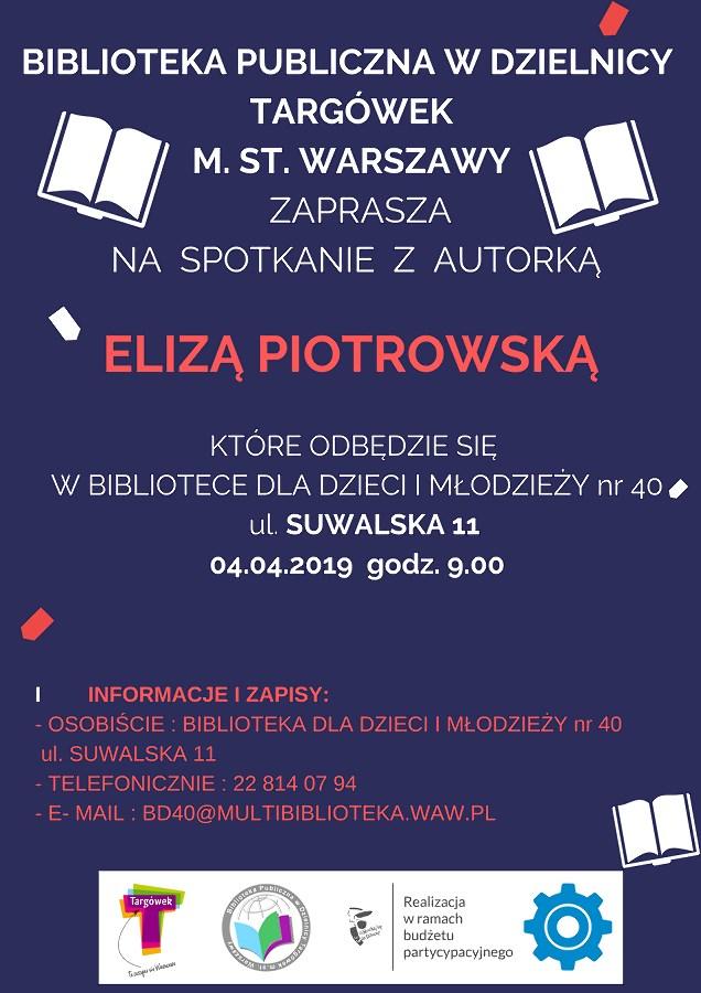 Spotkanie autorskie z Elizą Piotrowską w BD40