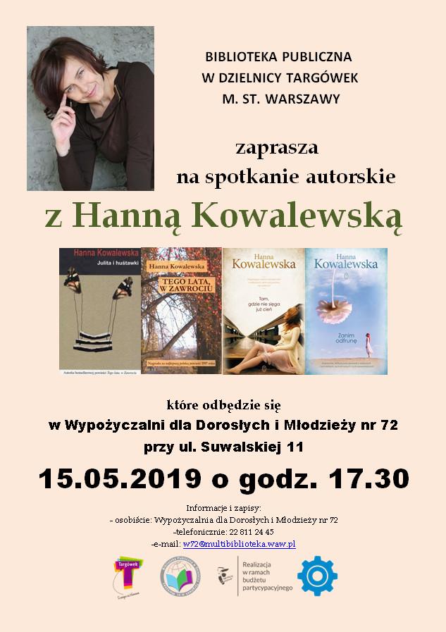 Spotkanie autorskie z Hanną Kowalewską w W72