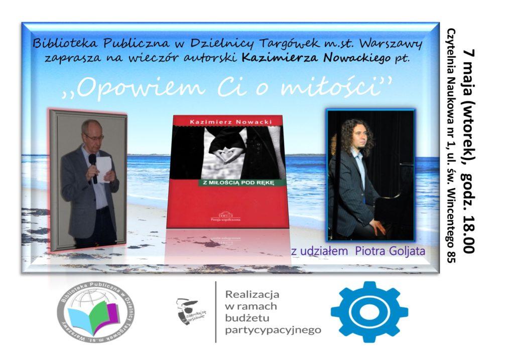Zaproszenie na Wieczór autorski z aKazimierzem Nowackim