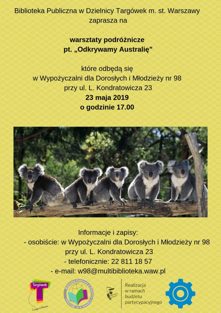 """""""Odkrywamy Australię"""" - warsztaty podróżnicze w W98"""