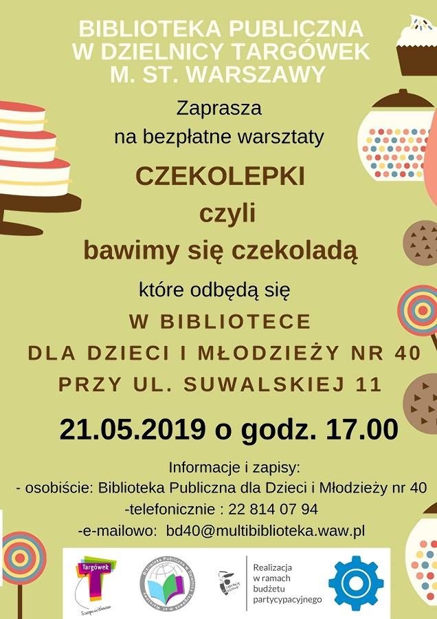 """""""Czekolepki, czyli bawimy się czekoladą"""" – warsztaty kreatywne w BD40"""